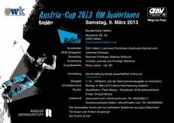 Austria-Cup 2013 ÖM JuniorInnen