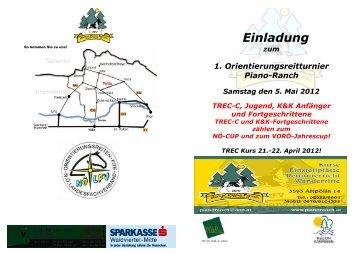 Anmeldung zum Orientierungsritt, am 5. Mai 2012