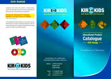 DVD Catalogue - Kiro Kids