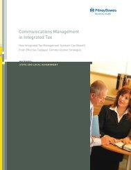 Communications Management in Integrated Tax - Pitney Bowes ...