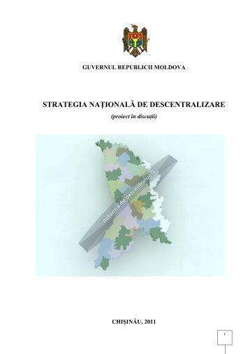 STRATEGIA NAŢIONALĂ DE DESCENTRALIZARE
