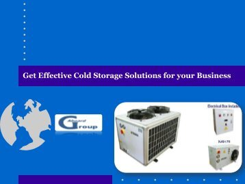 Get Effective Cold Storage Solutions for your Business