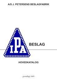 PRODUKTKATALOG 2010 20. udgave - J. Petersens Beslagfabrik