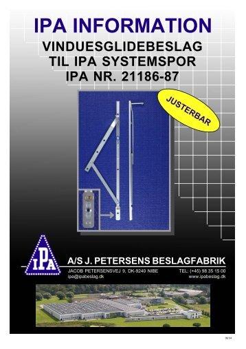 IPA INFORMATION - J. Petersens Beslagfabrik
