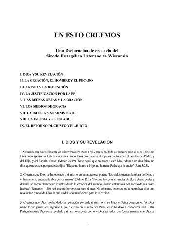 EN ESTO CREEMOS - Escritura y Verdad