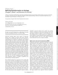 Splicing bioinformatics to biology - Department of Microbiology ...