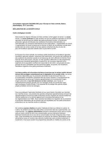Déclaration final e - CSA