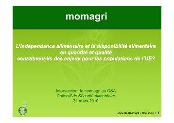 Jacques Carles, délégué général de Momagri - France - CSA