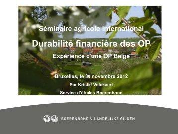 Expérience du BoerenBond - CSA