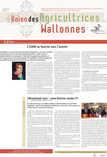 UAW text : Union des Agricultrices Wallonnes - CSA