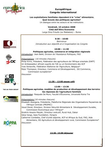 Programme du Congrès (fr) - CSA