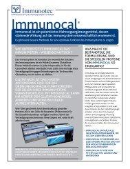 Immunocal ist ein patentiertes Nahrungsergänzungsmittel, dessen ...