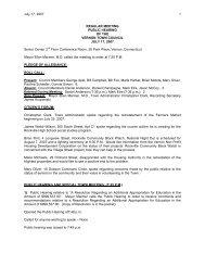 July 17, 2007 1 REGULAR MEETING PUBLIC ... - Town of Vernon