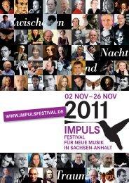 IMPULS 2011 PH RZ.indd - IMPULS-Festival