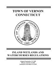 vernon inland wetlands and watercourses ... - Town of Vernon