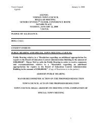 Town Council January 4, 2008 Agenda 1 ... - Town of Vernon