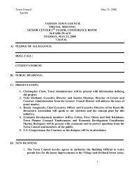 Town Council May 23, 2008 Agenda 1 VERNON ... - Town of Vernon