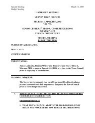 March 17th Amended Agenda - Town of Vernon