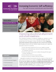 Improving Educational Attainment and School Readiness
