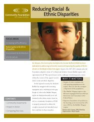 Reducing Racial & Ethnic Disparities - Community Foundation for ...
