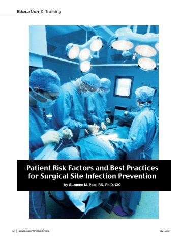 Patient Risk Factors and Best Practices for Surgical Site Infection ...