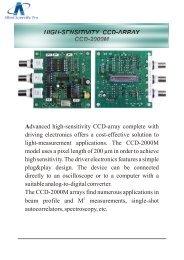 CCD Linear Arrays - ALPHALAS