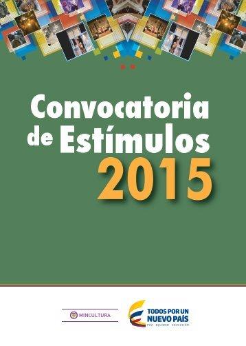 0.Convocatoria de Estímulos 2015