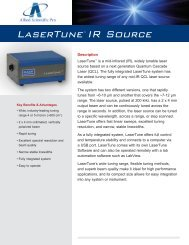 Download a detailed LaserTune specifications sheet