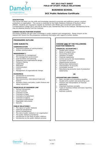 Accounting Diploma Correspondence