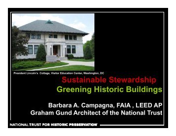 Sustainable Stewardship: Greening Historic Buildings - Preservation ...