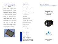 Spec sheet - Allied Scientific Pro