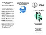 Personal Property Tax - Town of Vernon