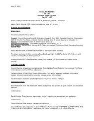 April 17, 2007 1 REGULAR MEETING OF THE VERNON TOWN ...