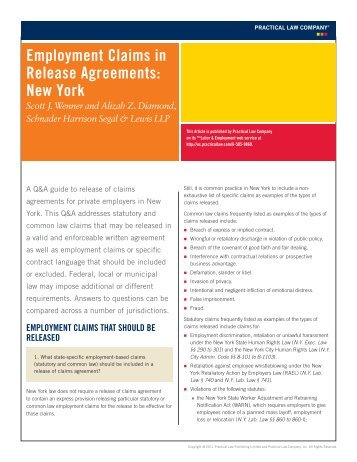 Separation Agreement And Release Of All Claims This