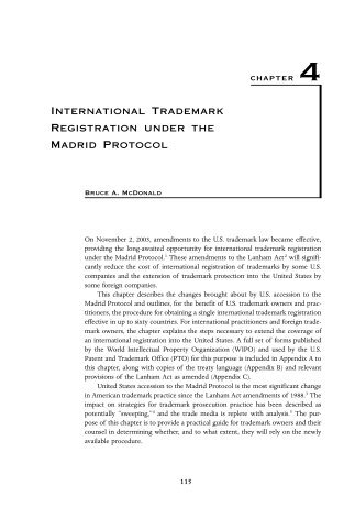International Trademark Registration under the Madrid Protocol