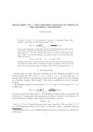 REGULARITY OF C1 AND LIPSCHITZ DOMAINS IN TERMS OF ...
