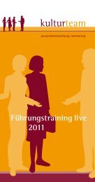 Führungstraining live 2011 - Kulturteam