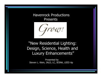 """New Residential Lighting: Design, Science, Health and Luxury ..."
