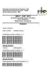 Zeitplan WELT - CUP 2013 - DSKB