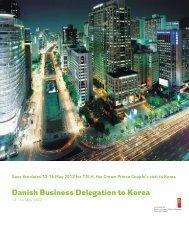 Danish Business Delegation to Korea - Danish Design Association