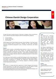 Chinese-‐Danish Design Corporation - Danish Design Association