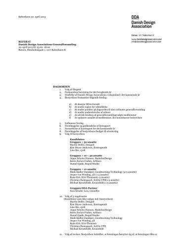 Referat 2013 - Danish Design Association