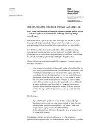 Pressemeddelelse - Danish Design Association