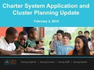 Charter System and Cluster Planning Update_February Board v2