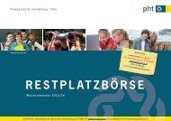 RESTPLATZBÖRSE - Pädagogische Hochschule Tirol