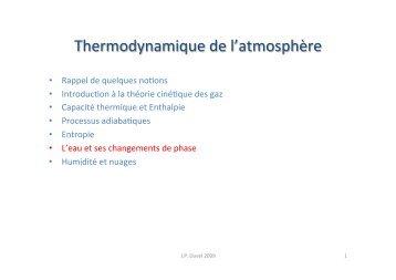 L'eau et ses changements de phase - Laboratoire de météorologie ...