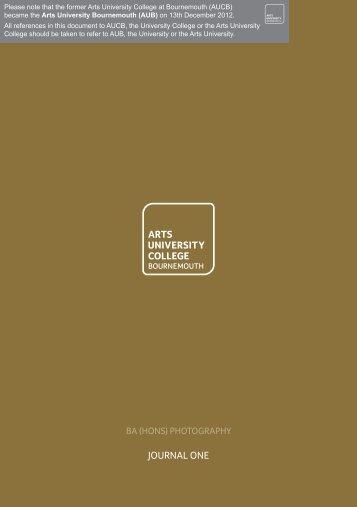 BAPHO Journal 01.pdf - Arts University Bournemouth