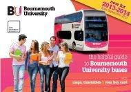 morebus University Bus Timetable - Arts University Bournemouth