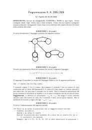 Programmazione A. A. 2005/2006