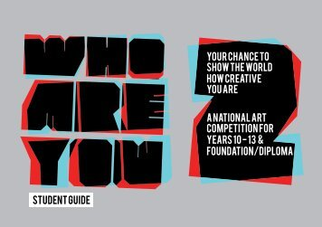 your chance TO show the world how creative you are A NATIONAL ...